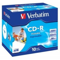 VERBATIM CD-R 80 52x PRINT. box 10ks