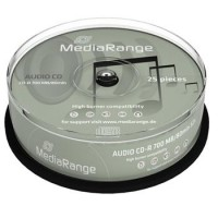 MEDIARANGE CD-R AUDIO 700MB 52x spindl 25ks