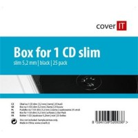 COVER IT box:1 CD slim černý 25pck/BAL