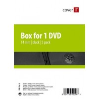 COVER IT box:1 DVD 14mm černý 5ks/BAL