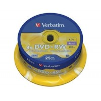 VERBATIM DVD+RW 4,7GB 4x spindl 25pc/BAL