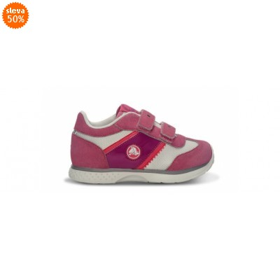 Crocs Retro Sprint Sneaker Kids Pink Lemonade/White, C11 (28-29)