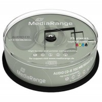 MEDIARANGE CD-R AUDIO 700MB 52x spindl 25pck/bal Inkjet Printable