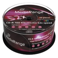 MEDIARANGE CD-R 700MB 52x spindl 50ks Inkjet Printable