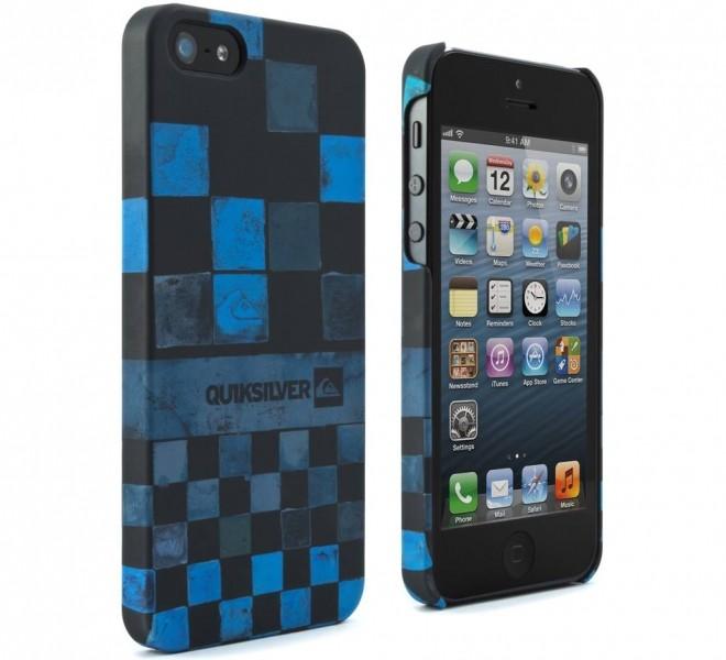 Zadní kryt quiksilver pro telefony apple iphone 5 modro černý
