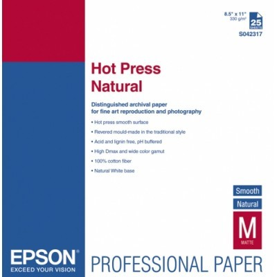 "EPSON Hot Press Natural Paper, roll 17"" x 15,2m"