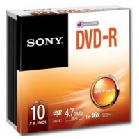 Média DVD-R SONY DMR-47; 4.7GB; 16x; 10ks SLIM