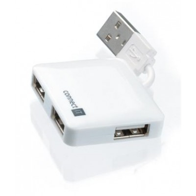 CONNECT IT USB hub se 4 porty white