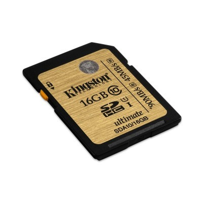 16GB SDHC Ultimate UHS-I Kingston class 10