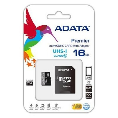 ADATA 16GB Micro SD SDHC class 10 with  Adapter/UHS-I Premier