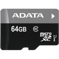 ADATA 64GB MicroSDXC Premier,class10 with Adapter (AUSDX64GUICL10-RA1)