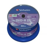 VERBATIM DVD+R 8,5GB 8x DoubleLayer MATT SILVER spindl 50pck/BAL