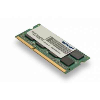 Patriot 4GB SO-DIMM  DDR3-1333MHz  1,35V SR