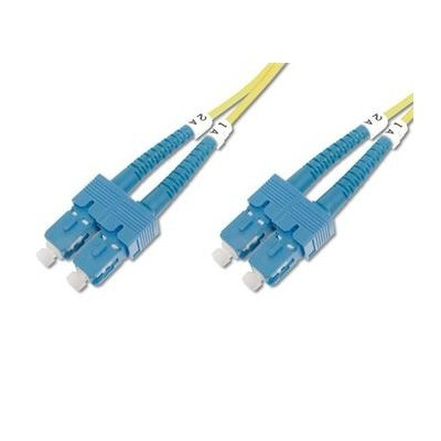DIGITUS Fiber Optic Patch Cord, SC to SC Singlemode 09/125 µ, Duplex Length 2m