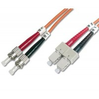 DIGITUS Fiber Optic Patch Cord, ST to SCMultimode 50/125 µ, Duplex Length 1m