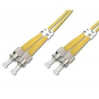 DIGITUS Fiber Optic Patch Cord, ST to ST Singlemode 09/125 µ, Duplex Length 5m