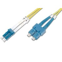 DIGITUS Fiber Optic Patch Cord, LC to SC Singlemode 09/125 µ, Duplex Length 2m