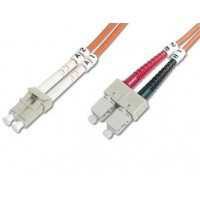 DIGITUS Fiber Optic Patch Cord, LC to SCMultimode 50/125 µ, Duplex Length 3m