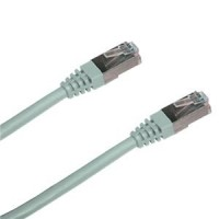 Patchkabel 1m , FTP , Cat5e , RJ45, šedý