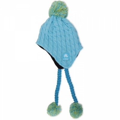 Crocs Cable Oversized Pom Hat - Ice Blue/Surf Blue/Burst