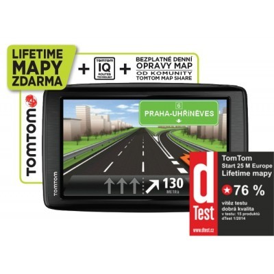 TomTom START 25 Europe LIFETIME mapy, 5""