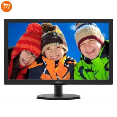 "22"" LED Philips 223V5LSB- FullHD,DVI"