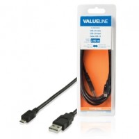 Valueline micro USB kabel, A-B, USB 2.0, 2m