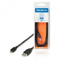 Valueline micro USB kabel, A-B, USB 2.0, 3m