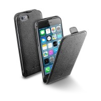 Pouzdro CellularLine Flap Essential pro Apple iPhone 6, černé