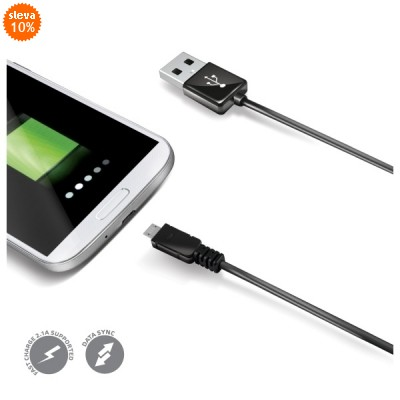 Celly micro USB kabel, A-B, USB 2.0, 1m