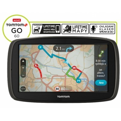TomTom GO 60 Europe LIFETIME mapy, 6""