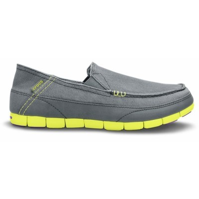 Crocs Men's Stretch Sole Loafer - Charcoal/Citrus, M9/W11 (42-43)