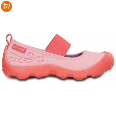 Crocs Duet Busy Day Mary Jane PS Carnation/Coral, C10 (27-28)