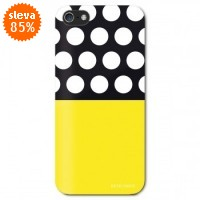 Zadní kryt Remember Dots and Yellow pro Apple iPhone 5/5S