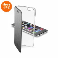 Pouzdro typu kniha CellularLine Clear Book pro Apple iPhone 6/6S
