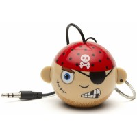 Reproduktor KITSOUND Mini Buddy Pirate, 3,5 mm jack, růžový