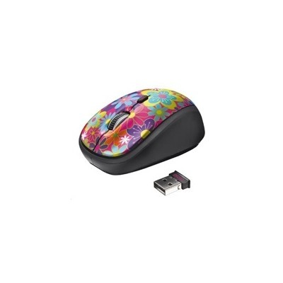 myš TRUST Yvi Wireless Mouse - flower power