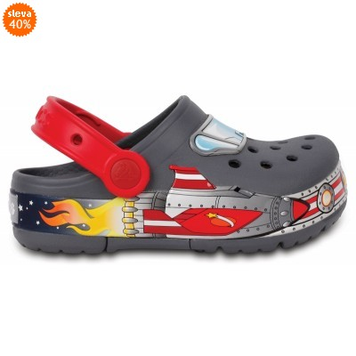 Crocs Lights Galactic Clog Boy Charcoal, C11 (28-29)