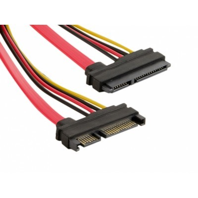 4World Kabel SATA 22pin F - SATA 22pin M 49cm