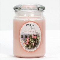 Svíčka ve skleněné dóze 538g Willow Lane 1646126 - Sheer Rose & Ivy