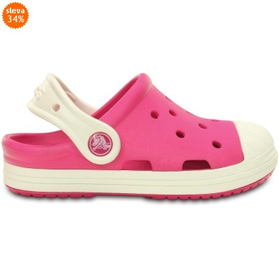 Crocs Bump It Clog Kids Candy Pink/Oyster, C10 (27-28)