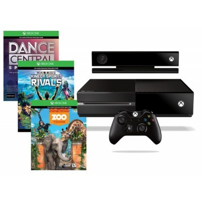 XBOX ONE 500GB Kinect senzor + 3 x hra (Dance Central Spotlight + Kinect Sports Rivals + Zoo Tycoon)