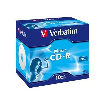VERBATIM CD-R(10-pack)AudioLiveit!/Color/Jewel/80m