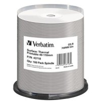 VERBATIM CD-R(100-Pack)/52x/700MB/ThermoPrint/NoID