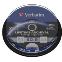 VERBATIM M-Disc BD-R DL(10-pack)25GB/4x/spindle