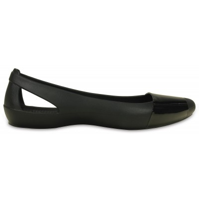 Crocs Sienna Shiny Flat - Black, W6 (36-37)