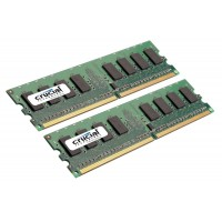 4GB DDR2-667 MHz Crucial CL5, kit 2x2GB