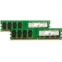 4GB DDR2-800 MHz Crucial CL6, kit 2x2GB