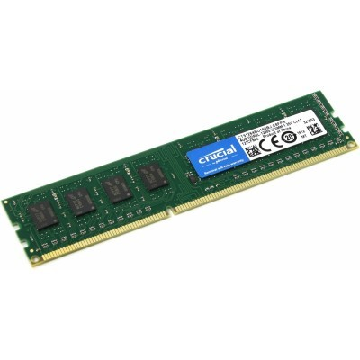 4GB DDR3L - 1600 MHz Crucial CL11 1.35V/1.5V single rank