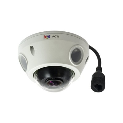 ACTi E927,MiniFiE.Dome,10M,OD,f1.37mm,PoE,WDR,IR